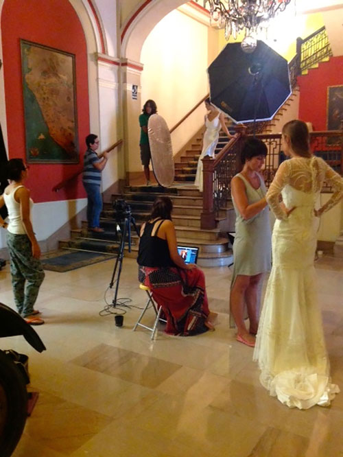 Photoshoot at the Hotel Bolivar in Lima, Peru
