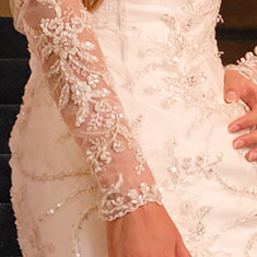 Claudette Wedding Dress Detail