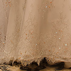 Italian Lace Wedding Dress Detail