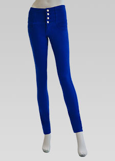 COLOURED SKINNY JEANS WITH 3 INCH WAISTBAND