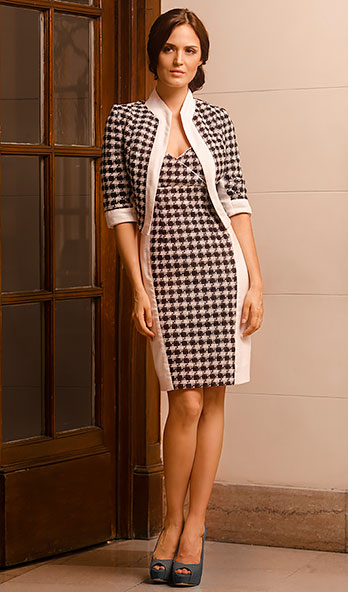 Tweed Check Dress & Jacket